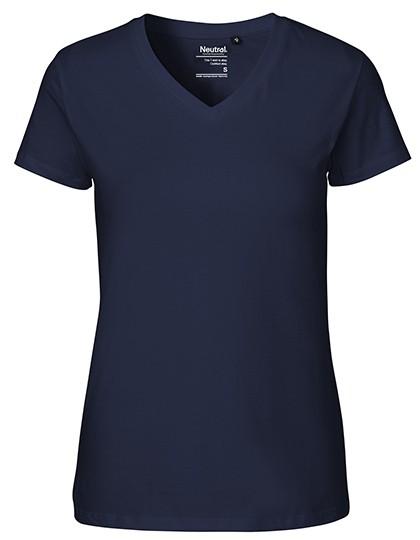 Ladies` V-neck T-Shirt Neutral 81005