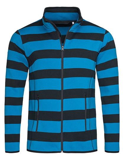 Active Striped Fleece Jacket for men Stedman 5090